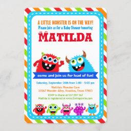 Monster Bash Baby Shower Party Invitation