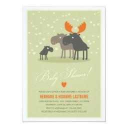 Moose Deer Family Couples Baby Shower