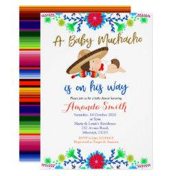 Muchacho Mexican Fiesta Baby Shower Invitations