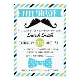 Mustache Bow Little Man Baby Shower