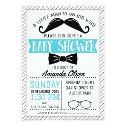 Mustache Little Gentleman Baby Shower