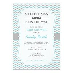Mustache Little Man Baby Shower