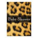 Natural Cheetah Print Baby Shower Invitation