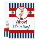 Nautical Ahoy It's A Boy Baby Shower Invitation