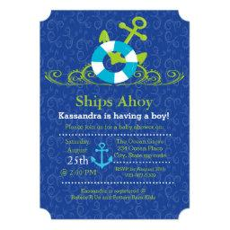 Nautical Anchor Swirls Baby Boy Shower