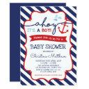 Nautical Baby Shower Invitation Ahoy It's A Boy!