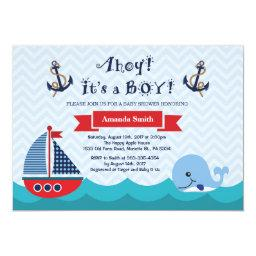 Nautical Baby Shower  Navy Red and Blue