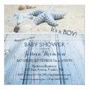 Nautical Beach Baby Boy Shower Invitation