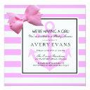 Nautical Blush Pink Anchor It's A Girl Baby Shower Invitations