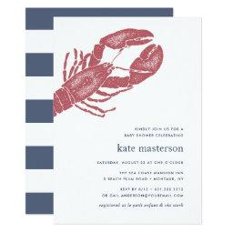 Nautical Lobster Baby Shower Invitation