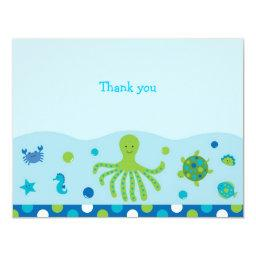 Nautical Under the Sea Flat Thank You Note