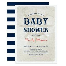 Nautical baby shower invitations babyshowerinvitations4u navy blue nautical baby shower filmwisefo Images