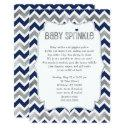Navy Silver Baby Sprinkle, Boy Baby Shower Invites