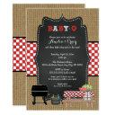 Neutral Babyq Baby Shower, Bbq Baby Q Invites