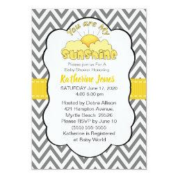 Neutral You Are My Sunshine Baby Shower