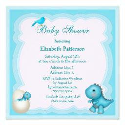 Newly Hatched Baby Boy Dinosaur Baby Shower