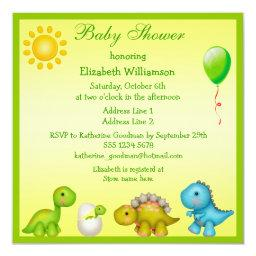 Newly Hatched Baby Dino & Dinosaurs Baby Shower