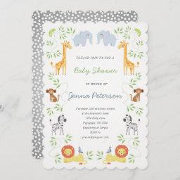 Noah's Ark Animals Baby Shower Invitation
