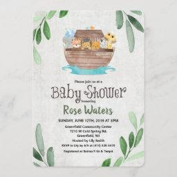 Noah's Ark Baby Shower Invitation
