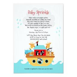 Noah's Ark Baby Sprinkle Invite, Baby Shower Invitation