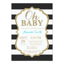 Oh Baby Black And Gold Baby Shower