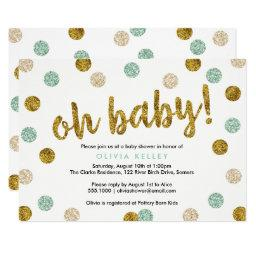 Oh Baby Mint and Gold Baby Shower
