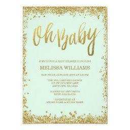 Glitter Baby Shower Invitations BabyShowerInvitations4U