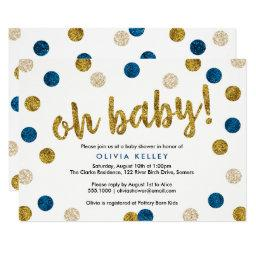 Oh Baby Navy and Gold Baby Shower