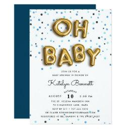 Oh Baby | Navy & Gold Baby Shower