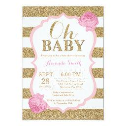 Oh Baby Pink and Gold Baby Shower