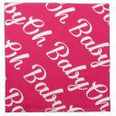 Oh Baby Pink Baby Girl Shower Napkin
