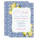 Oh Baby Positano Lemons Pink Girl Baby Shower Invitation