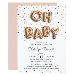Oh Baby | Rose Gold Baby Shower