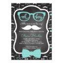 Oh Boy Baby Shower Invitation, Blue, Gray Invitation