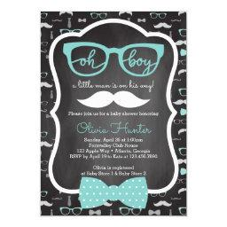 Oh Boy Baby Shower , Blue, Gray