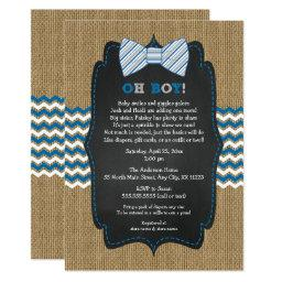 OH BOY Bow Tie Baby Sprinkle / boy baby shower