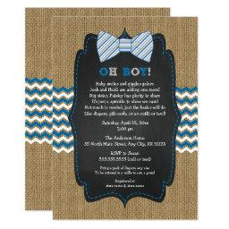Oh Boy Bow Tie Baby Sprinkle / Boy Baby Shower Invitations