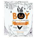 Oh Boy! Halloween Pumpkin Baby Shower Invitation