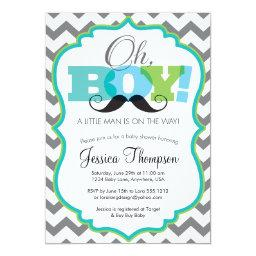Oh Boy Mustache Baby Shower