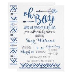 Oh Boy Tribal Baby Shower  -custom