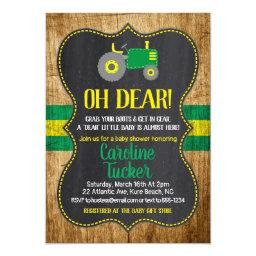 Oh Deer Tractor Baby Shower Invitation Invitations