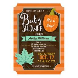Orange & Brown Fall or Halloween Baby Shower