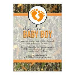 Orange - Camo Baby Boy Shower