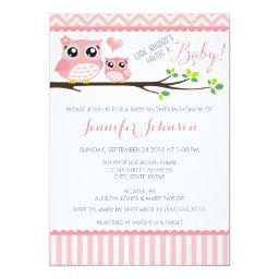 Owl Baby Shower  | Pink Chevron | Girl