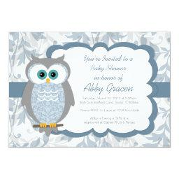 Owl baby shower invitations babyshowerinvitations4u owl baby shower invitation for boys blue 830 filmwisefo