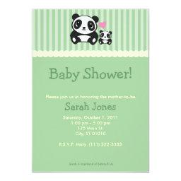 Panda Baby Shower - Green