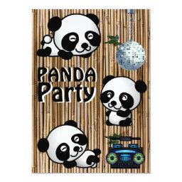 Panda Party Invitations