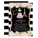 Paris Floral Travel Theme Baby Shower Invitation