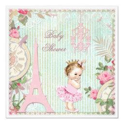 Paris Princess in Tutu Shabby Chic Baby Shower