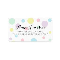 Pastel Polka Dots Address Labels